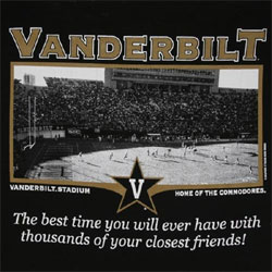 Vanderbilt Commodores Football T-Shirts - Welcome To My House
