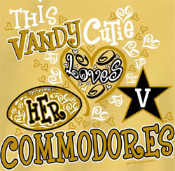 Vanderbilt Commodores Football T-Shirts - Vandy Cutie Love Her Commodores