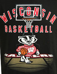 Wisconsin Badgers Basketball T-Shirts - Hit The Court With Bucky